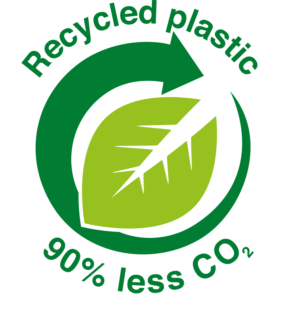 Recycled Plastic: 90% less CO2
